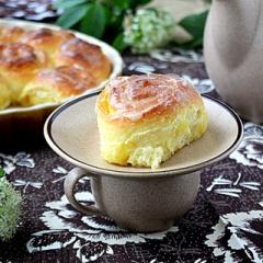 Апельсиновые булочки со сливочной заливкой