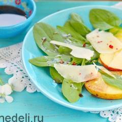 Салат из шпината на скорую руку