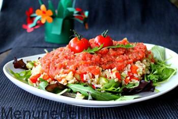 Salat s risom i zapechennym percem (2)