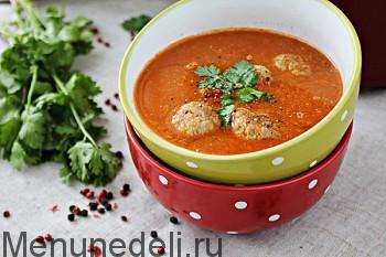 Tomatnyj sup s konservirovannoj fasol'ju i chechevicej (2)