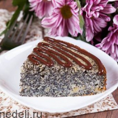 Пирог с ревенем и маком