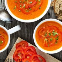 Суп с болгарским перцем и морковью