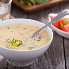 Сырный суп с кукурузой