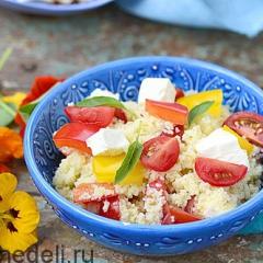 Овощной салат с кус-кусом