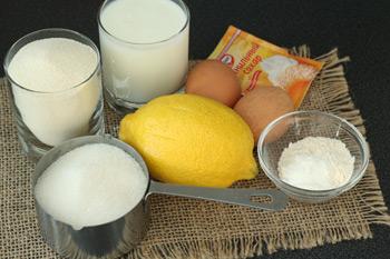 Подготовленные ингредиенты для манника перед приготовлением