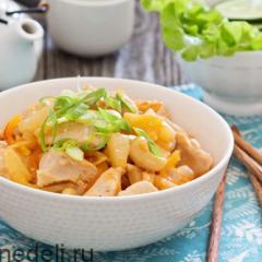 Курица в кислом соусе по-азиатски