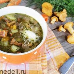 Суп из лисичек с картофелем