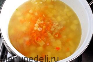 Суп картофельный с мясными фрикадельками в доу