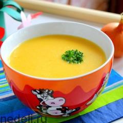 Суп-пюре из разных овощей как в детском саду