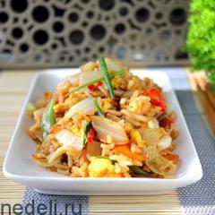 Рис с овощами в азиатском стиле