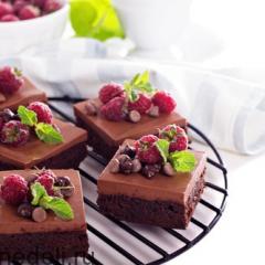 Брауни с шоколадно-кофейным муссом