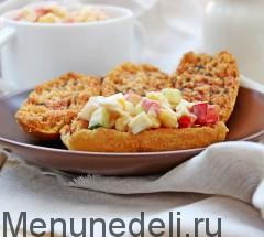 Крабовый салат с болгарским перцем