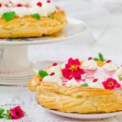 Торт с творогом и брусникой