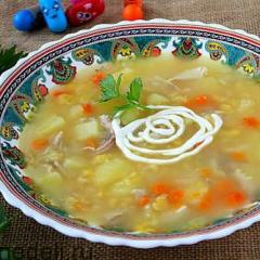 картофельный суп как в детском саду рецепт