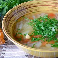 Суп из нута с бараниной