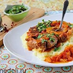 Оссо буко или тушеная говядина с овощами