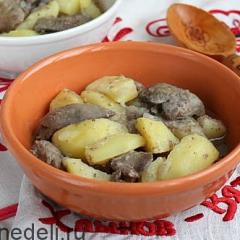 Картофель с печенью - осердница по-вятски