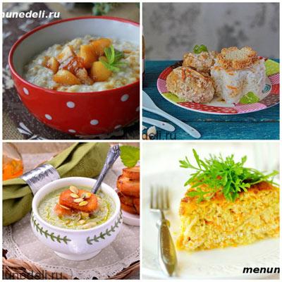 Каша овсяная рыбные тефтели суп из брокколи запеканка