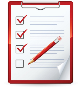 Clipart Illustration of a Red Pencil Marking Of Items On A Check
