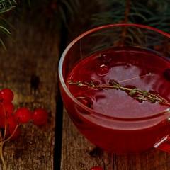 Горячий клюквенный напиток с джином - рецепт с пошаговыми фото
