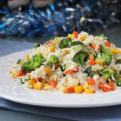 Рис с овощами -  рецепт с пошаговыми фото