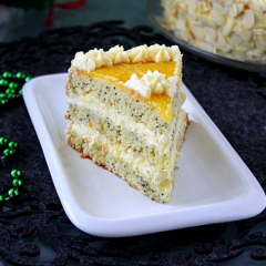 Рецепт торт с апельсинами, миндалем и маком