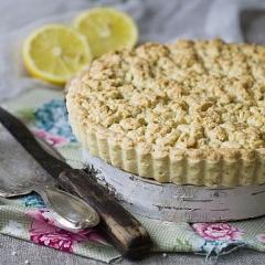 Тёртый пирог с лимоном