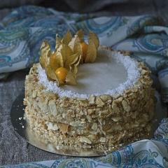Постный кокосовый торт «Наполеон»