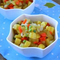 Картофельный салат с солеными огурцами как в детском саду