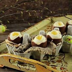 Шоколадные яйца с муссовой начинкой
