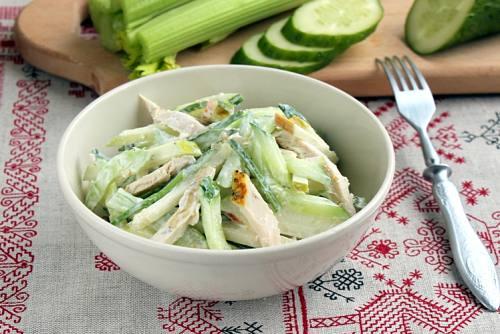 Сельдерей рецепты салатов из стеблей с фото