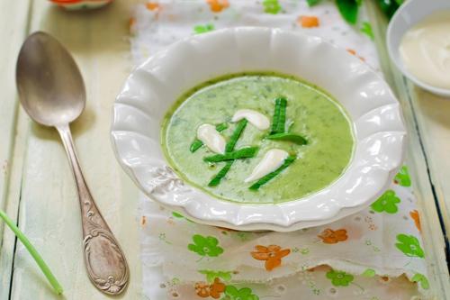 Суп-пюре с черемшой