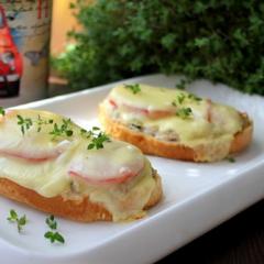 Горячие бутерброды с фаршем в духовке