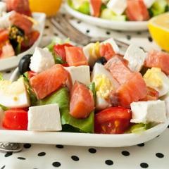 Рецепт салата с соленой горбушей