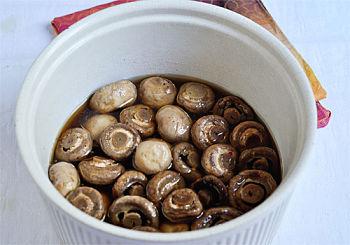 Белые грибы на мангале