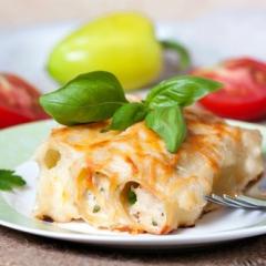 Каннеллони, фаршированные сыром