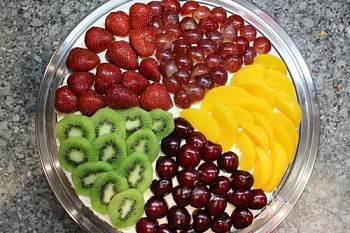 Украшения из фруктов на торты пошаговое фото