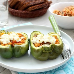 Вегетарианские фаршированные перцы