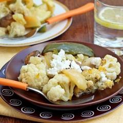 Запеченные овощи с ванильно-цитрусовым соусом