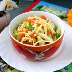 Салат из сыра и моркови как в детском саду