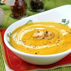 Суп-пюре из тыквы и шампиньонов
