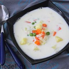 Молочный овощной суп