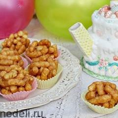Готовим с ребенком: печенье из воздушной кукурузы в карамели