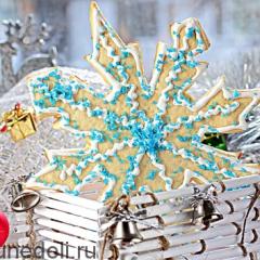 Новогоднее печенье «Снежинки»