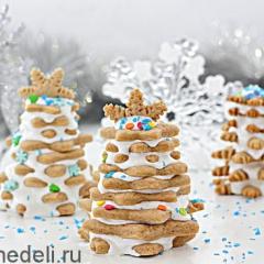 Новогоднее печенье «Ёлочки»