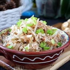 Салат из топинамбура и квашеной капусты