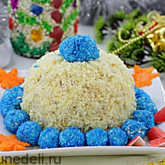 Новогодний салат «Шапка Снегурочки»
