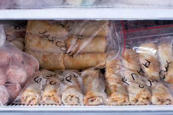 Замороженные блинчики с различными начинками
