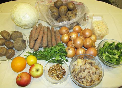 Овощи и фрукты для экономного меню