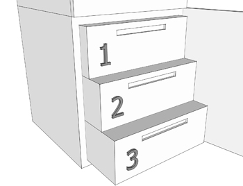 Схема хранения продуктов в морозилке